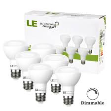 le better lighting experience le 6 pack br20 led light bulbs dimmable 45w incandescent bulbs