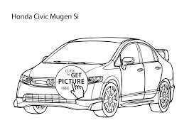 cars honda car honda civic coloring page cool car printable free