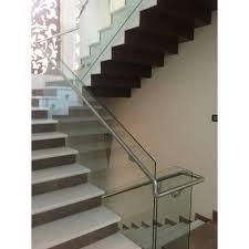 glass stair railing glass staircase railing jyothi steel art