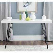 Black Console Table Safavieh Wolcott White And Black Console Table Fox4208a The Home