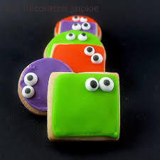 halloween messenger background googly eyed monster halloween cookies
