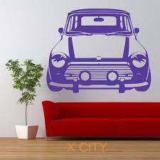 vintage mini cooper car retro wall art sticker vinyl transfer vintage mini cooper car retro wall art sticker vinyl transfer decal door window room stencil mural