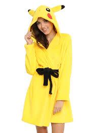 pokemon pikachu girls hooded robe topic
