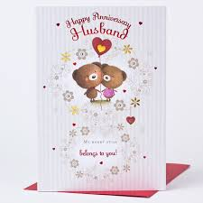 anniversary cards for anniversary card husband only 89p