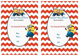 despicable me birthday invitations u2013 gangcraft net