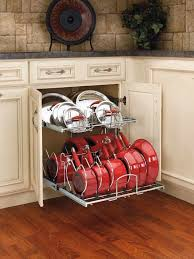 which kitchen cabinets are better lowes or home depot this is how pots and pans should be stored lowes and home