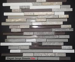 Stone Glass Tile Backsplash by Gray Quartz Stone Mosaic With Light Gray Glass Tile Kitchen