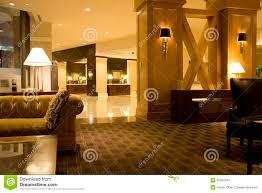luxury hotel lobby interiors lighting stock photo image 32022294