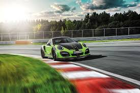 photo tuning porsche 2016techart 911 turbo gt street r yellow green