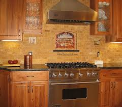 Slate Backsplash Ideas For The by Vineyard View Kitchen Tile Backsplash With Grapes Vines From Slate