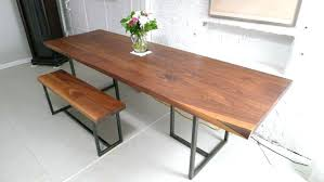 Farm Tables With Benches Dining Table Rustic Bench Style Dining Table Wooden And Oak