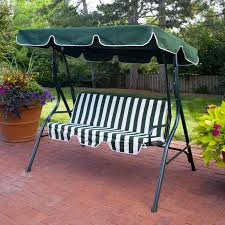 Steel Canopy Frame by Patio Swing Canopy Cover Comfortable Orange Stripe Seat Cushion