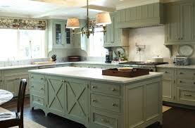rustic looking kitchens dark brown painted cherry island stainless