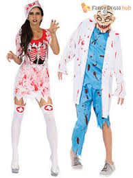Mens Doctor Halloween Costume Zombie Doctor Bloody Nurse Costume Ladies Mens Halloween Fancy