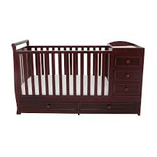 Crib That Converts To Twin Size Bed by Sorelle Newport 2 In 1 Crib U0026 Changer Combo Merlot Walmart Com