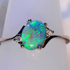 black opal engagement rings solid 18ct white gold solid lightning ridge australian black opal
