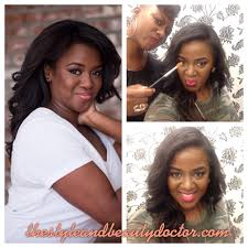 danielle gray the style and beauty doctor highlight contour makeup on dark skin