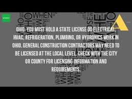 how do i get my general contractors license in ohio