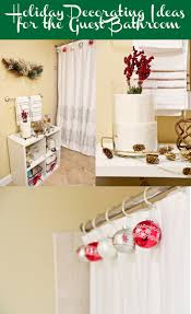 here u0027s some holiday decorating ideas for your guest bathroom using