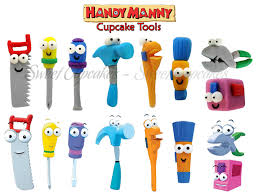 handy manny tools coloring pages handy manny fondant tools cupcakes with 3d figures pinterest