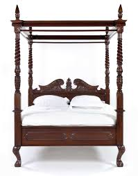 solid mahogany wood french queen anne 4 poster bed the bed shack