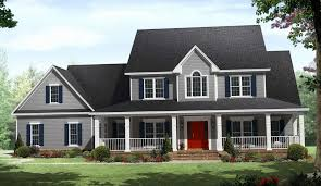Country House Plans with Porches Awesome 2 Story Farmhouse with