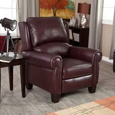 Leather Chair And Half Design Ideas Furniture Oversized Recliners With White Color And Tufted Design