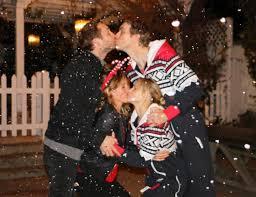 kristen bell sister kristen bell dax shepard share same kiss with costar couple