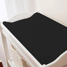Change Table Pads Solid Black Changing Pad Cover Carousel Designs