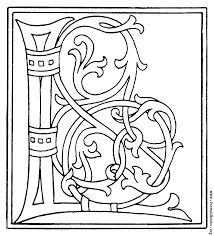 clipart initial letter l from late 15th century printed book
