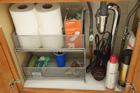 over door basket organizer cabinet under sink storage kitchen img