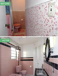 pink bathroom tile before and after where to find vintage