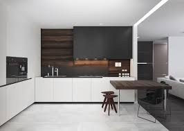Kitchen Cabinet Features Kitchen Futuristic Black And White Kitchen Features Angled White