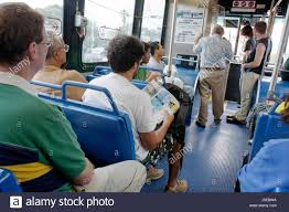 Miami Beach Bus Map Miami Beach Florida Metrobus Bus Public Transportation Passengers