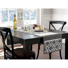 gray lattice table runner threshold target