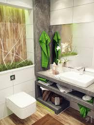bathroom fresh airy bathroom with green towel near rectangle