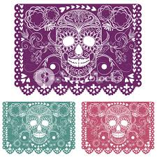 Day The Dead Decoration Papel Picado Royalty Free Stock Image