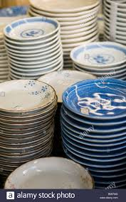 ceramic plates for sale in the kappabashi restaurant supply