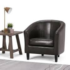 classic bonded leather club chair in dark brown cnf456 l the