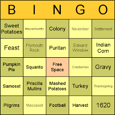 thanksgiving bingo cards