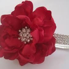 Red Rose Wrist Corsage Best Rhinestone Wrist Corsage Products On Wanelo