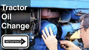 tractor oil change 1967 ford 3000 youtube