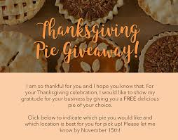 thanksgiving pie giveaway concord tickets tue nov 21 2017 at 11