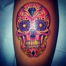 my sugar skull sorry for the glare done by jeff white sun