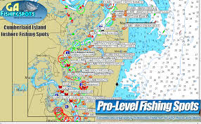 cumberland lake map cumeberland island fishing spots and fishing maps
