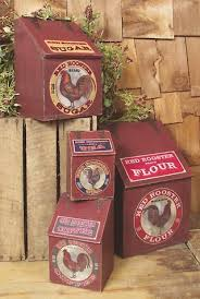 rooster kitchen canisters amazon com red rooster wood kitchen canister set kitchen dining