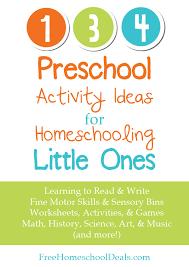 134 preschool activity ideas for homeschooling little ones free