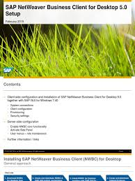 sap netweaver business client for desktop 5 0 setup internet