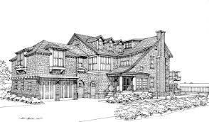 Low Country House Plans Portfolio Black White Cc3d
