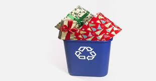 recyclable wrapping paper bows glitter ribbon are not recyclable here s how to recycle